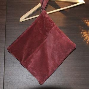 Victoria Napoli Suede Clutch Bag